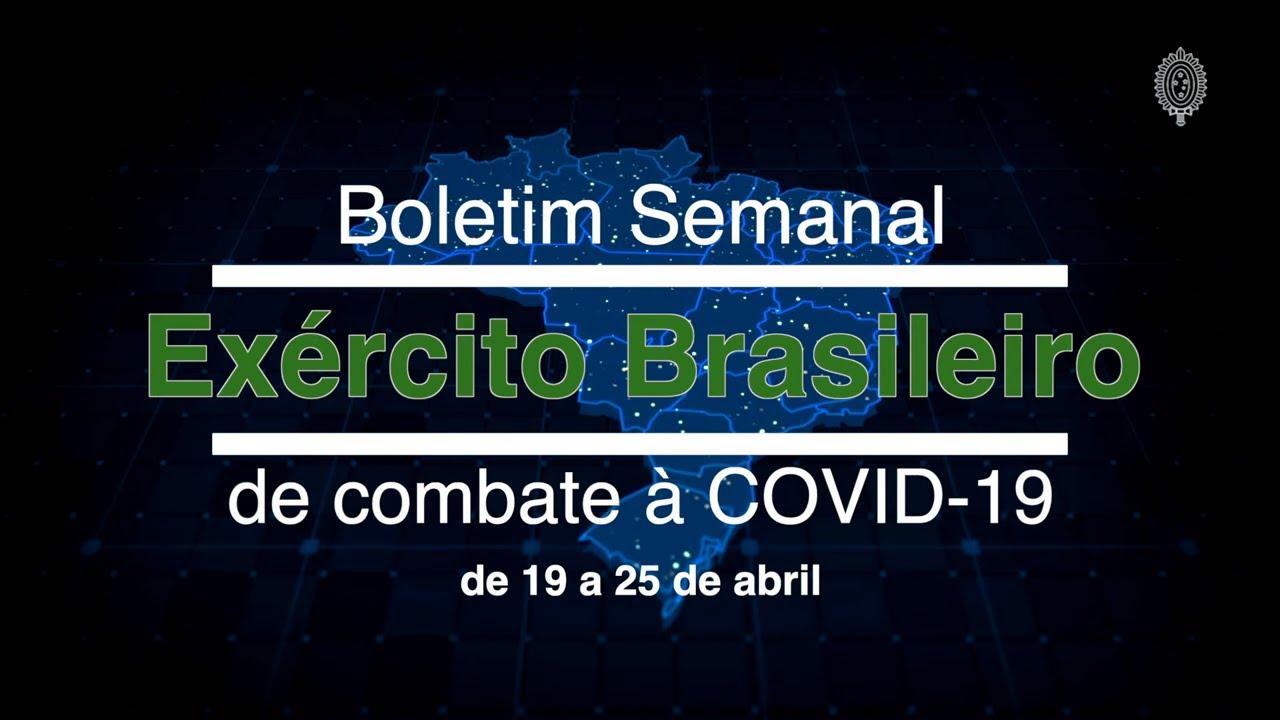 Boletim Semanal - Combate à COVID-19