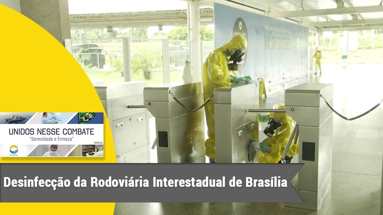 Marinha do Brasil realiza instrução de limpeza e desinfecção da Rodoviária Interestadual de Brasília