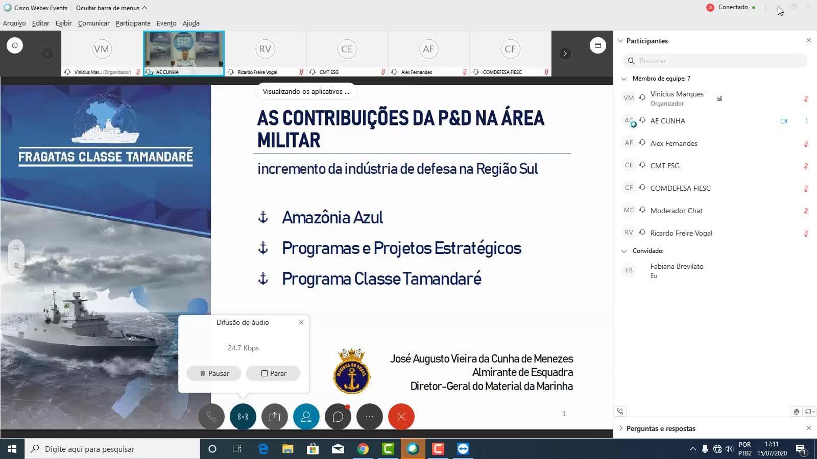 As Contribuições da P&D da Área Militar: incremento da Indústria de Defesa na Região Sul